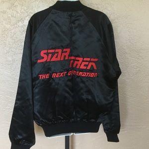 Star Trek Next Generation Black Satin Jacket L